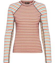 samara 909, rib t-shirt t-shirts & tops long-sleeved multi/patroon stine goya