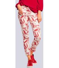 broek alba moda offwhite::rood