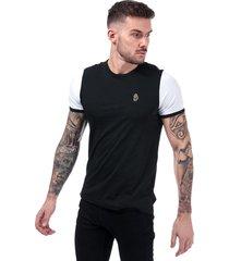 luke 1977 mens ringer t-shirt size l in black