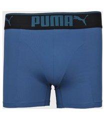 cueca puma boxer logo azul