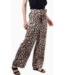 pantalón greta con lazo animal print jacinta tienda