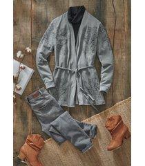 jeans elasticizzati  comfort a vita alta slim (grigio) - john baner jeanswear