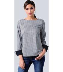 blouse alba moda taupe::marine