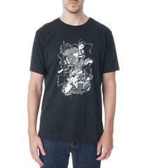 robert graham men's radio head graphic t-shirt - black - size l
