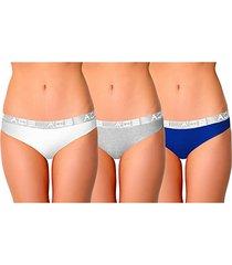 3-pack stretch-cotton bikini panties