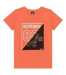camiseta decoy adulto masculino norway laranja