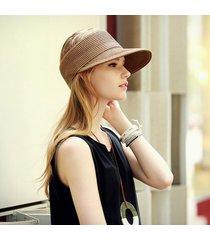 cappello di paglia moda donna modello a righe breathable flessibile per il tempo libero