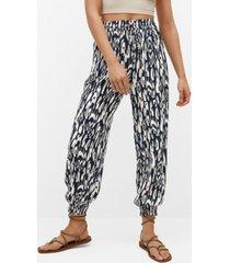 mango women's flowy printed pants