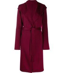 joseph belted midi coat - red
