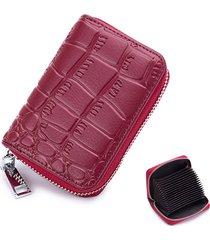 portafoglio da 16 tasche porta carte di credito in vera pelle multi tasche da donna