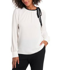 riley & rae billie tie-neck blouse, created for macy's