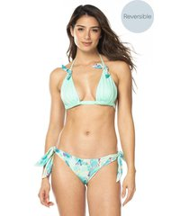 vestido de baño reversible bikini ajustable ocean-menta