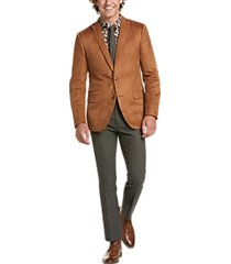 paisley & gray slim fit suit separates coat cognac