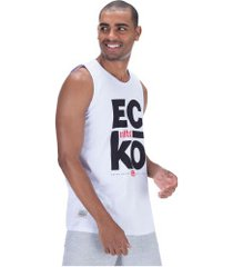 camiseta regata ecko estampada e736a - masculina - branco