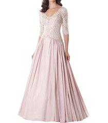 dislax scoop half sleeve mother of the bride dresses blush us 2