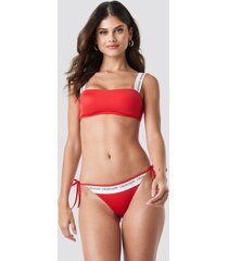 calvin klein string side tie bikini - red