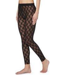 calzedonia lace leggings woman black size m