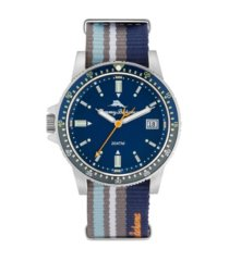 tommy bahama men's madeira island anglers sport multi nylon strap watch, 45mm