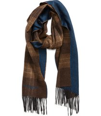women's canali plaid silk & cashmere scarf, size one size - beige