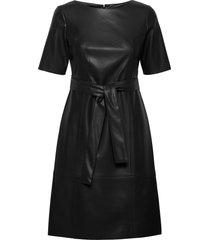 dress woven fabric jurk knielengte zwart taifun
