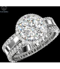 10k white gold 1.25 ct diamond women's engagement ring wedding bands bridal set