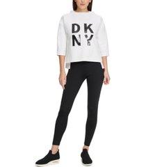 dkny sport stacked-logo sweatshirt