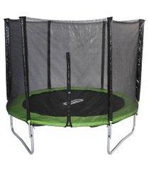 cama elástica fitt10 fittp32 244cm até 150 kg verde