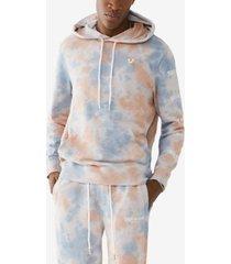 men's tie dye logo pullover hoody