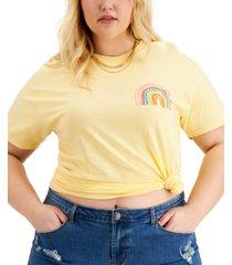 love tribe trendy plus size rainbow cotton t-shirt