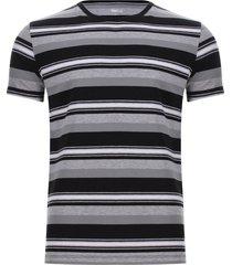 camiseta preteñida a rayas color negro, talla s