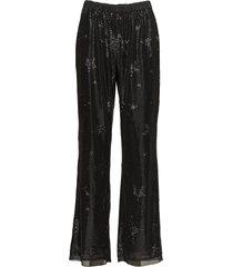 sharon pants pantalon met rechte pijpen zwart raiine