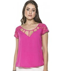 blusa celestine pedraria rosa