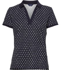 d1. desert jewel print ss pique t-shirts & tops polos blå gant