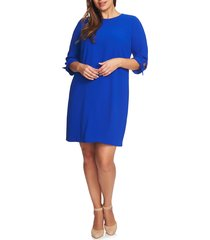 plus size women's cece tie sleeve shift dress, size 14w - blue