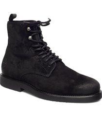 barkley mid lace boot snörade stövlar svart gant