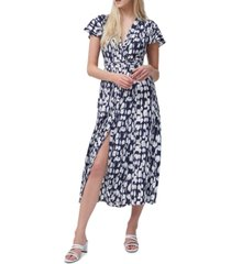 french connection islanna crepe printed maxi dress