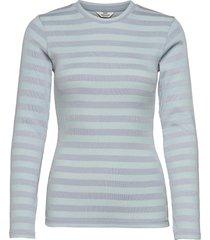 2x2 tonal stripe tuba t-shirts & tops long-sleeved blauw mads nørgaard