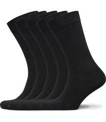 bamboo solid crew sock 5-pack underwear socks regular socks svart frank dandy