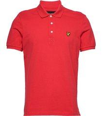 polo shirt polos short-sleeved röd lyle & scott