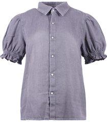 ba&sh blouse lichtgrijs