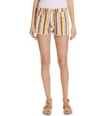 women's frame le cutoff denim shorts, size 23 - blue