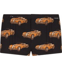 dolce & gabbana classic car swim shorts - black