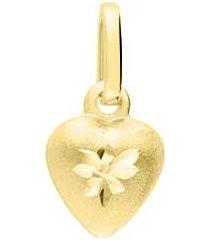 ciondolo in oro giallo forma cuore pieno per donna