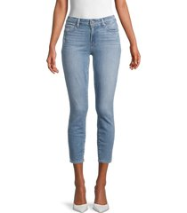 paige women's verdugo cropped jeans - blue - size 29 (6-8)