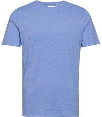 mouliné o-neck tee s/s t-shirts short-sleeved blå lindbergh