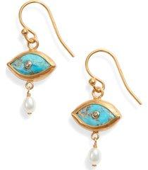 women's chan luu evil eye drop earrings