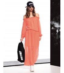 sukienka frida orange fluo
