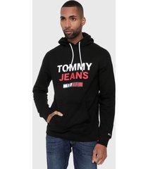 buzo negro-rojo-blanco tommy jeans