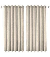 cortina em poliéster com ilhos em metal rocca bege 400x230cm