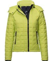 hooded box quilt fuji jacket doorgestikte jas geel superdry